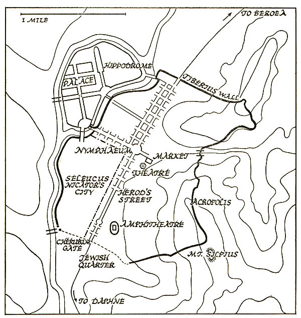Map of Ancient Antioch