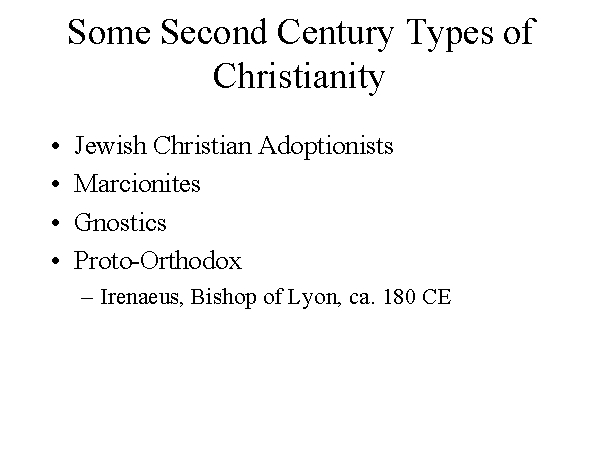 second century christianity What did the second century church believe  tradition had some impact on the second century christians, but was never supposed to supercede the bible.