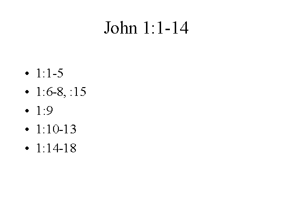 Staff >> John 1:1-14